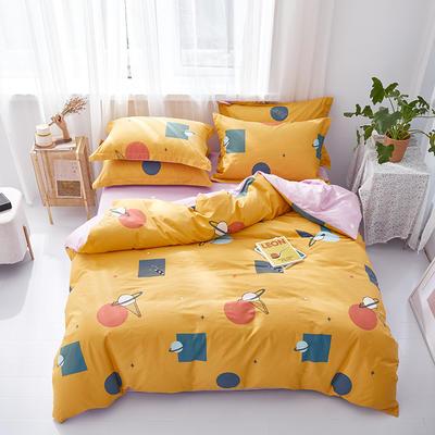 2021年新款全棉13372花型单被套-2 180x200cm 甜蜜星球-黄