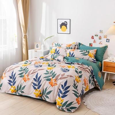 2021新款全棉13372四件套—花卉系列 1.5m床单款四件套 百卉语香