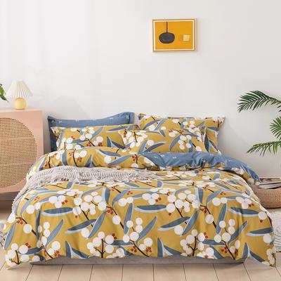 2021新款全棉13372四件套—花卉系列 1.8m床单款四件套 仙本娜