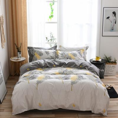 2021新款全棉13372四件套—花卉系列 1.8m床单款四件套 叶影