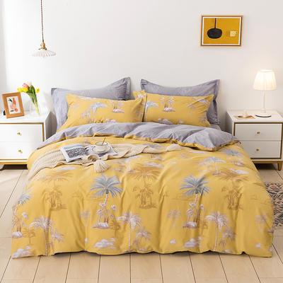 2021新款全棉13372四件套—花卉系列 1.8m床单款四件套 玉树