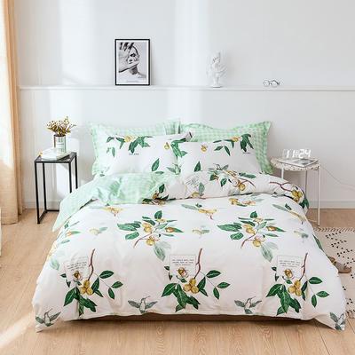 2021新款全棉13372四件套—花卉系列 1.8m床单款四件套 招摇
