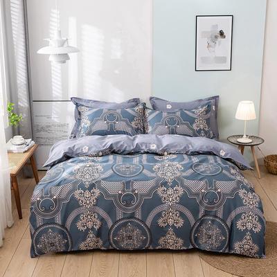 2021新款全棉13372四件套—纹样系列 1.8m床单款四件套 梵典
