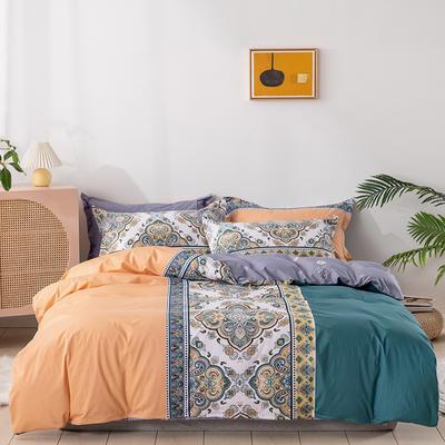 2021新款全棉13372四件套—纹样系列 1.8m床单款四件套 欧丽斯