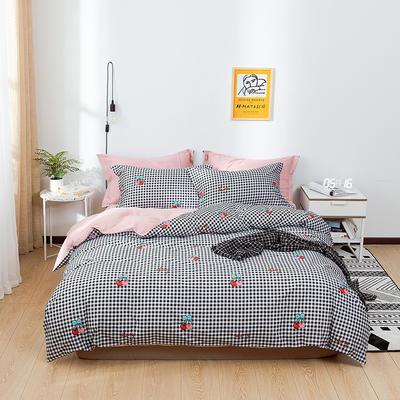 2021年新款全棉13372四件套—时尚格子花系列 1.5m(5英尺)床 午后心情