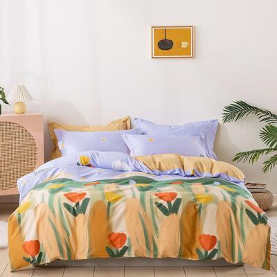 2021年新款全棉13372四件套—时尚个性系列 1.8m(6英尺)床 娇韵