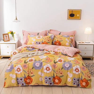 2021年新款全棉13372四件套—时尚个性系列 1.8m(6英尺)床 花野-黄