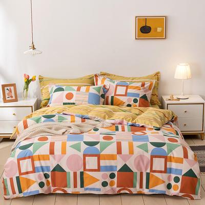 2021年新款全棉13372四件套—时尚个性系列 1.8m(6英尺)床 几何派