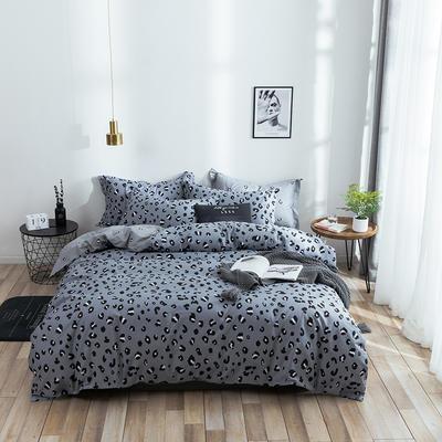 2021年新款全棉13372四件套—时尚个性系列 1.5m(5英尺)床 蓝豹纹