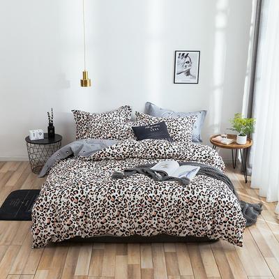 2021年新款全棉13372四件套—时尚个性系列 1.8m(6英尺)床 时尚豹纹