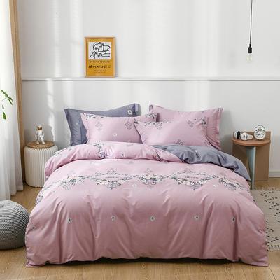2021年新款全棉13372四件套—时尚蝴蝶系列 1.5m(5英尺)床 完美生活-粉