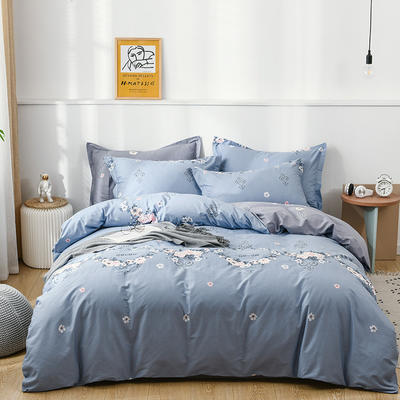 2021年新款全棉13372四件套—时尚蝴蝶系列 1.8m(6英尺)床 完美生活-兰