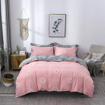 2021年新款全棉13372四件套—时尚蒲公英系列 1.8m(6英尺)床 绘心-粉