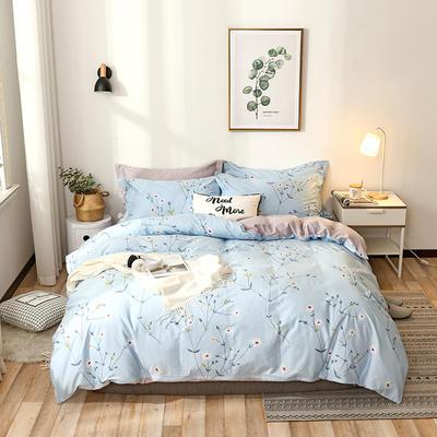 2021年新款全棉13372四件套—时尚清新枝叶系列 1.8m(6英尺)床 岁月花香