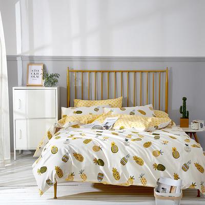 2021年新款全棉13372四件套—时尚水果系列 1.8m(6英尺)床 菠萝