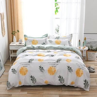 2021年新款全棉13372四件套—时尚水果系列 1.5m(5英尺)床 香橙满园