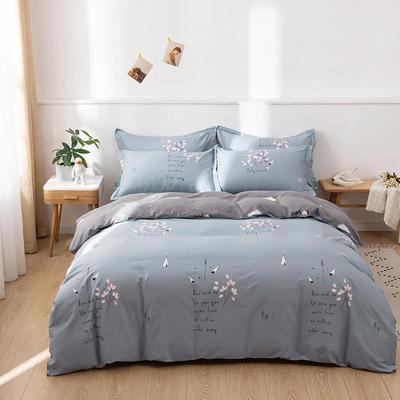 2021年新款全棉13372四件套—时尚小花系列 1.8m(6英尺)床 爱丽