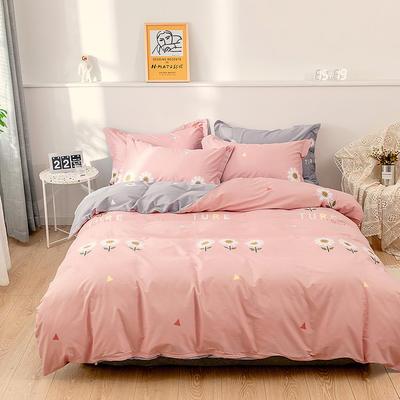 2021年新款全棉13372四件套—时尚小花系列 1.5m(5英尺)床 初晴-粉