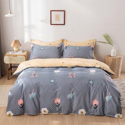2021年新款全棉13372四件套—时尚小花系列 1.5m(5英尺)床 四季花语
