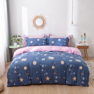 2021年新款全棉13372四件套—时尚星空系列 1.8m(6英尺)床 闪耀星空