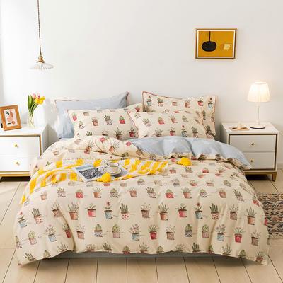 2021年新款全棉13372四件套—时尚植物系列 1.5m(5英尺)床 小盆栽