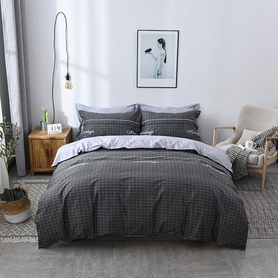 2021年新款全棉13372四件套—格子系列 1.5m(5英尺)床 绅士雅居