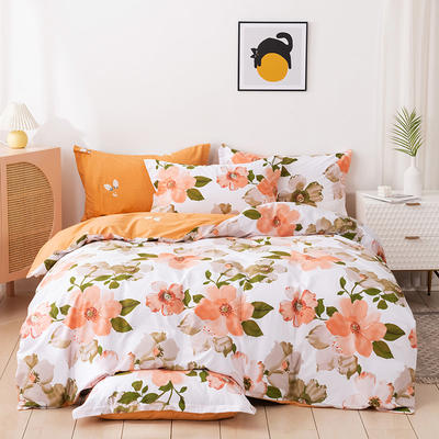 2021新款全棉13372四件套—花卉系列 1.8m床单款四件套 夏日花香