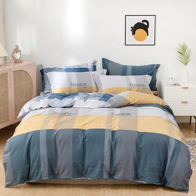 2021年新款全棉13372四件套—格子系列 1.5m(5英尺)床 时尚前沿