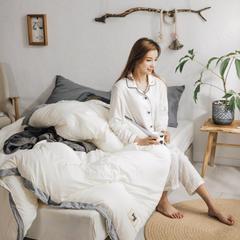 2018新品素色水洗棉系列冬被 150x200cm4.5斤 水洗棉 白