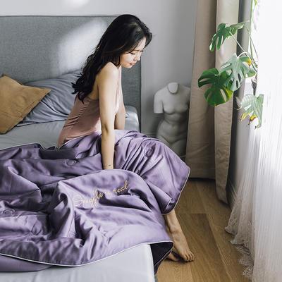 2019新款莫代尔刺绣夏被 150x200cm 罗兰紫
