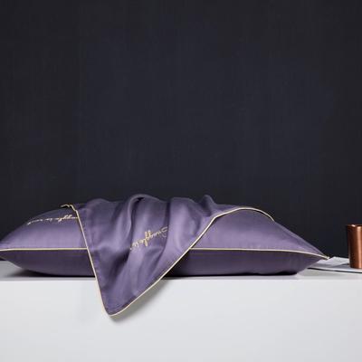 2019新款莫代尔刺绣夏被 200X230cm 枕套 罗兰紫48*74