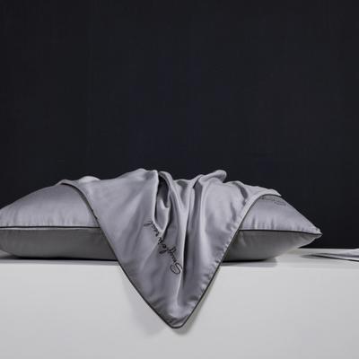 2019新款莫代尔刺绣夏被 200X230cm 枕套 绅士灰48*74
