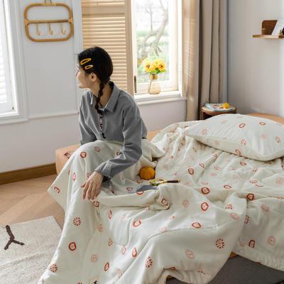 2020新款-双层纱棉花夏被 150x200cm 棉花夏被-百变猫咪