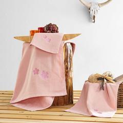 2018新款贴布绣毛巾(34*74cm) 粉色