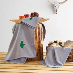 2018新款贴布绣毛巾(34*74cm) 灰色