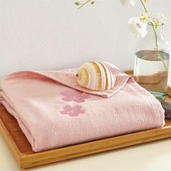 2018新款贴布绣浴巾(70*140cm) 粉色