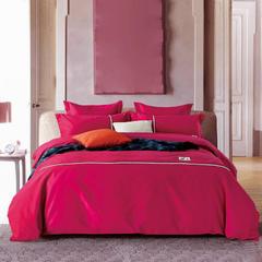 素色磨毛工艺款四件套 标准(1.5m-1.8m床) 红色-希拉莉