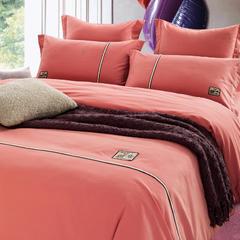 素色磨毛工艺款四件套 标准(1.5m-1.8m床) 砖红-伊代奥