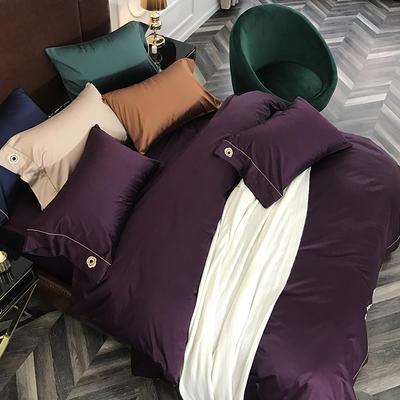 2018新款100支陌野(五色)单枕套 48cmX74cm 100支陌野(深紫色)