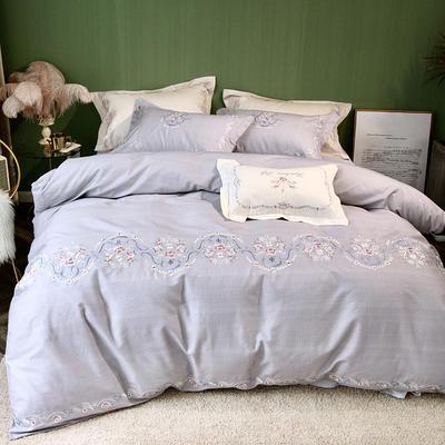 2019新款80臻绒印绣系列四件套 1.5m(5英尺)床 艾菲尔