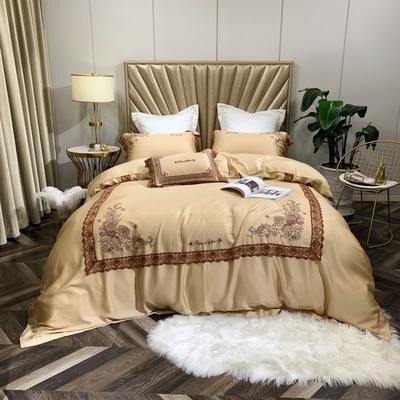 2019新款法式蕾丝天丝四件套花边系列 1.5m(5英尺)床 芳华