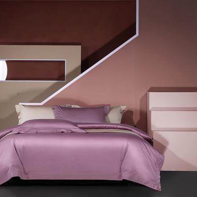 2020新款长绒棉双埋线工艺四件套 1.5m床单款 丁香紫