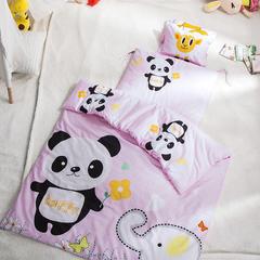 全棉幼儿园套件 120*150cm 芯子二快乐熊猫-粉
