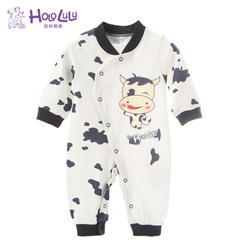 婴儿连体哈衣 59码 黑色奶牛哈衣