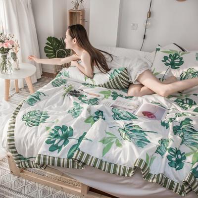 2019春夏新品-风尚全棉夏被(花卉系列模特图) 150*200cm 楼澜花开
