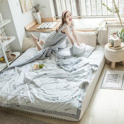 2019春夏新品-风尚全棉夏被(小清新系列模特图) 150*200cm 斑马乐园