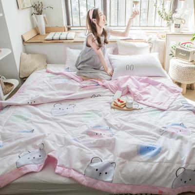 2019春夏新品-风尚全棉夏被(小清新系列模特图) 150*200cm 小萌仔