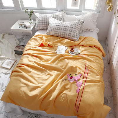 全棉工艺夏被 150*200cm 粉红豹黄