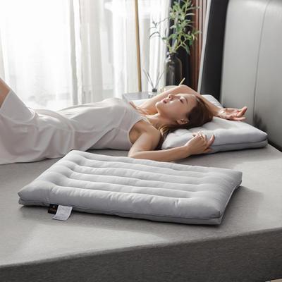 2020新款-全棉护颈低矮扁枕芯 气质灰48*74cm1000克