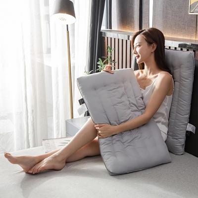 2020新款-全棉护颈低矮扁枕芯 气质灰48*74cm800克